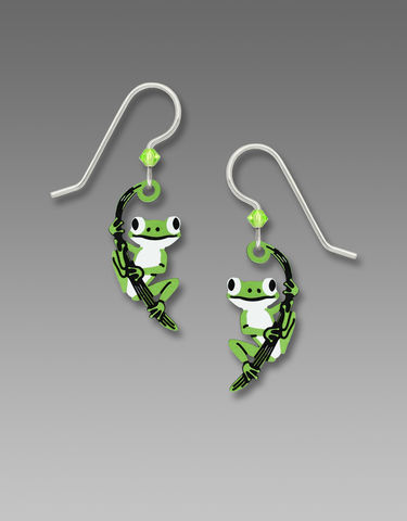 Sienna,Sky,Earrings,-,Green,Tree,Frog,on,Twig,Sienna Sky Earrings, Adajio earrings Sienna Sky, Sienna Sky Colorado