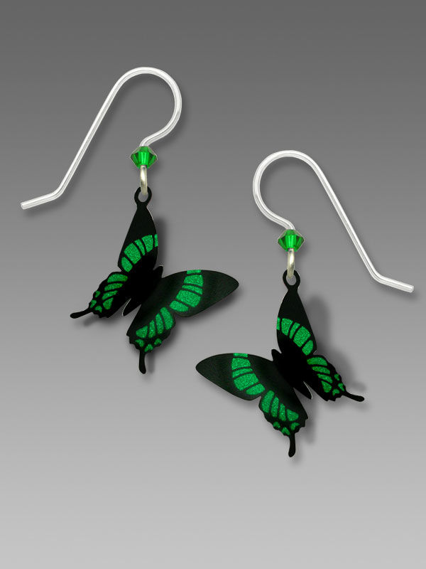 Sienna Sky Earrings - Green Malachite Butterfly - product image