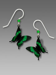Sienna Sky Earrings - Green Malachite Butterfly - product images 1 of 4