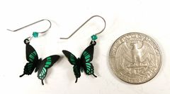 Sienna Sky Earrings - Green Malachite Butterfly - product images 4 of 4