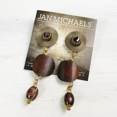Jan Michaels Long Tribal Drop Earrings - product images 4 of 5