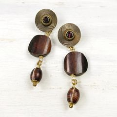Jan Michaels Long Tribal Drop Earrings - product images 1 of 5