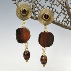 Jan Michaels Long Tribal Drop Earrings - product images 2 of 5
