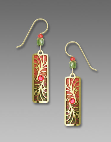 Adajio,Earrings,-,Melon,and,Olive,Column,with,Gold,Plated,Overlay,Beads,Adajio Earrings, Adajio earrings Sienna Sky, Adajio Jewelry, Adajio Colorado