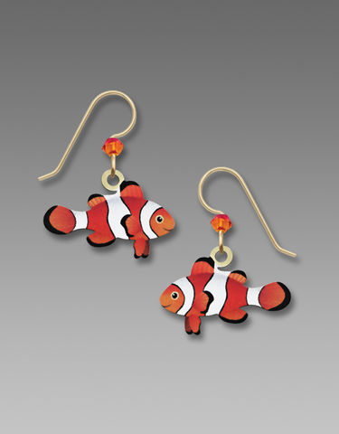Sienna,Sky,Earrings,-,Orange,and,White,Clown,Fish,Sienna Sky Earrings, Sienna Sky Orange and White Clown Fish Earrings, Sienna Sky 1969