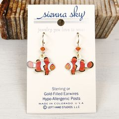 Sienna Sky Earrings - Orange and White Clown Fish - product images 2 of 4
