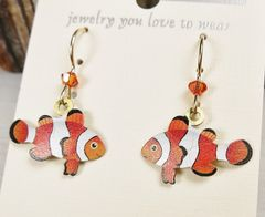Sienna Sky Earrings - Orange and White Clown Fish - product images 3 of 4
