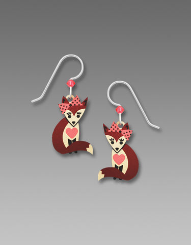 Sienna,Sky,Earrings,-,Fox,with,Heart,and,Bow,Sienna Sky Earrings, Sienna Sky fox Earrings, Sienna Sky 1980
