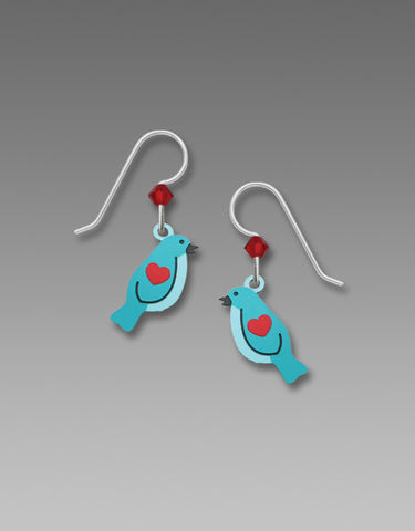 Sienna,Sky,Earrings,-,Turquoise,Bird,with,Red,Heart,Sienna Sky Earrings, Sienna Sky Earrings Turquoise Bird with Red Heart, Sienna Sky Bird Earrings, Sienna Sky 1974