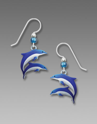 Sienna,Sky,Earrings,-,Blue,and,White,Dolphins,Sienna Sky Earrings, Sienna Sky Earrings Blue and White Dolphins, Sienna Sky 1976