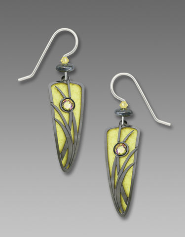 Adajio,Earrings,-,Sparkling,Lemon,Trowel,with,Shiny,Black,Hematite,Reeds,Overlay,Adajio Earrings, Adajio earrings Sienna Sky, Adajio Jewelry, Adajio Colorado, Adajio Earrings 7731