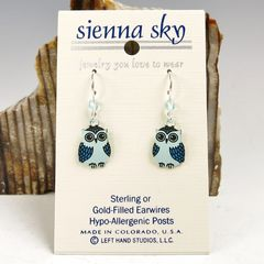 Sienna Sky Earrings - Blue Owl - product images 2 of 4