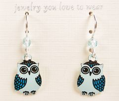 Sienna Sky Earrings - Blue Owl - product images 3 of 4