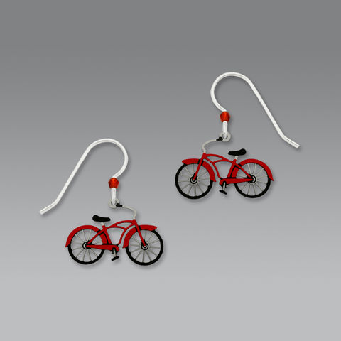 Sienna,Sky,Earrings,-,Vintage-Style,Bike,in,Red,Sienna Sky Earrings, Sienna Sky Earrings Vintage-Style Bike in Red, Sienna Sky 1664