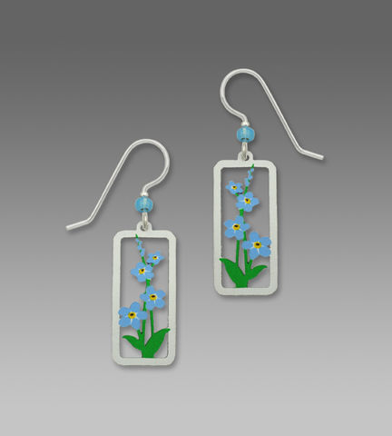 Sienna,Sky,Earrings,-,Forget-Me-Nots,in,Rectangle,Frame,Sienna Sky Earrings, Adajio earrings Sienna Sky, Sienna Sky Colorado