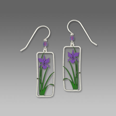 Sienna,Sky,Earrings,-,Purple,Iris,Sienna Sky Earrings, Adajio earrings Sienna Sky, Sienna Sky Colorado, Purple Iris Earrings