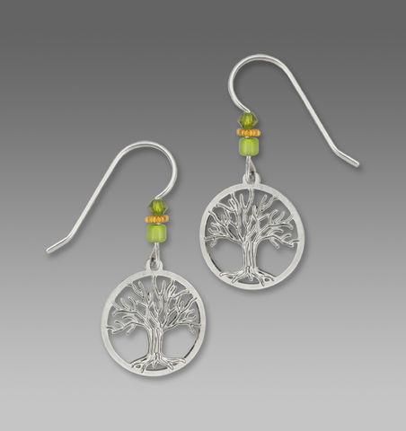 Sienna,Sky,Earrings,-,Silver,Tree,of,Life,in,Disc,Sienna Sky Earrings, Sienna Sky Earrings Silver Tree of Life in Disc, Sienna Sky 1410