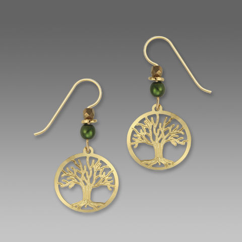 Sienna,Sky,Earrings,-,Gold,Plated,Tree,of,Life,in,Disc,Sienna Sky Earrings, Sienna Sky Earrings Gold Plated Tree of Life in Disc, Sienna Sky 1370