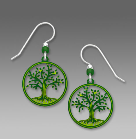 Sienna,Sky,Earrings,-,Green,Tree,of,Life,in,Disc,Sienna Sky Earrings, Sienna Sky Earrings Green Tree of Life in Disc, Sienna Sky 1756