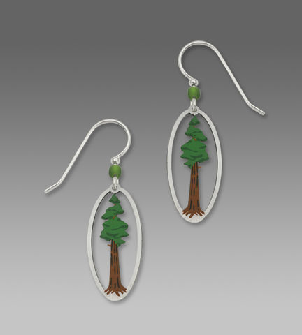 Sienna,Sky,Earrings,-,Sequoia,Tree,in,Oval,Frame,Sienna Sky Earrings, Sienna Sky Earrings Sequoia Tree in Oval Frame, Sienna Sky 1450
