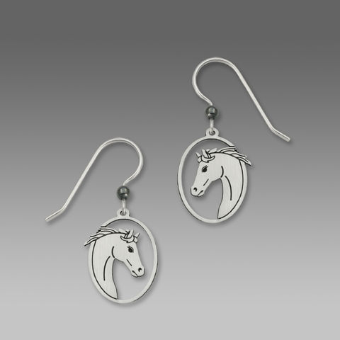 Sienna,Sky,Earrings,-,Horse,Head,in,Oval,Frame,Sienna Sky Earrings, Sienna Sky Earrings Horse Head in Oval Frame, Sienna Sky 1455