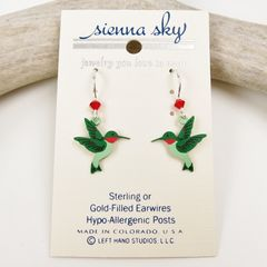 Sienna Sky Earrings - Hummingbird - product images 2 of 4