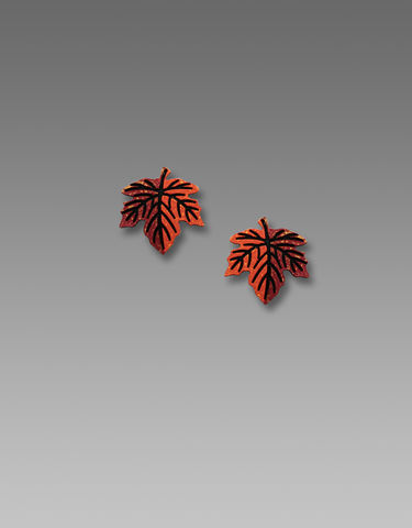 Sienna,Sky,Earrings,-,Small,Maple,Leaf,Studs,Sienna Sky Earrings, Sienna Sky Colorado, Sienna Sky Earrings Small Maple Leaf Studs, Sienna Sky 1908