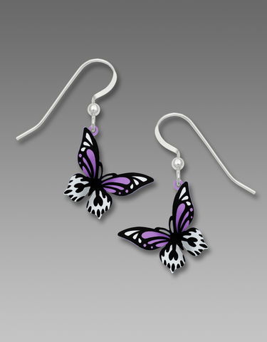 Sienna,Sky,Earrings,-,Bright,Violet,,Black,and,White,Butterfly,Sienna Sky Earrings, Sienna Sky Bright Violet, Black and White Butterfly Earrings, Sienna Sky 1898