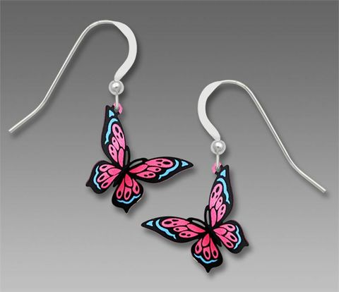 Sienna,Sky,Earrings,-,Pink,and,Blue,Fantasy,Butterfly,Sienna Sky Earrings, Sienna Sky Pink and Blue Fantasy Butterfly Earrings, Sienna Sky 1871