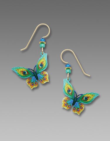 Sienna,Sky,Earrings,-,Green,and,Yellow,Butterfly,Sienna Sky Earrings, Sienna Sky Green and Yellow Butterfly Earrings, Sienna Sky 1966