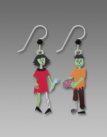 Sienna,Sky,Earrings,-,Zombie,Couple,Sienna Sky Earrings, Sienna Sky Zombie Couple Earrings, Sienna Sky 1979