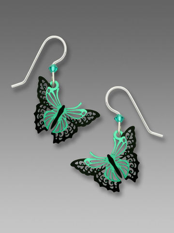 Sienna,Sky,Earrings,-,Aqua,and,Black,Filigree,Butterfly,Sienna Sky Earrings, Adajio earrings Sienna Sky, Sienna Sky Colorado