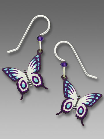 Sienna,Sky,Earrings,-,Violet,,Blue,and,White,Fantasy,Butterfly,Sienna Sky Earrings, Sienna Sky Violet, Blue and White Fantasy Butterfly Earrings, Sienna Sky 1851