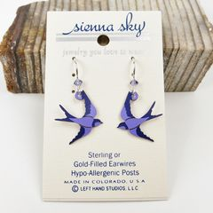 Sienna Sky Earrings - Purple Swallow - product images 2 of 4