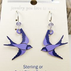 Sienna Sky Earrings - Purple Swallow - product images 3 of 4