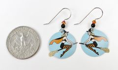 Sienna Sky Earrings - Witch on Broom - product images 4 of 4
