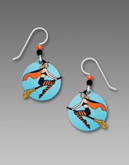 Sienna Sky Earrings - Witch on Broom - product images 1 of 4