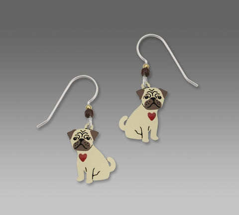 Sienna,Sky,Earrings,-,Pugsly,the,Pug,Puppy,with,Red,Heart,Sienna Sky Earrings, Adajio earrings Sienna Sky, Sienna Sky Colorado