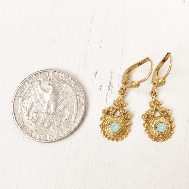 Catherine Popesco Vintage Swirl Small Crystal Earrings in Pacific Opal - product image