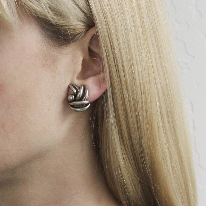 Marjorie Baer Leaf Bunch Earrings - product image