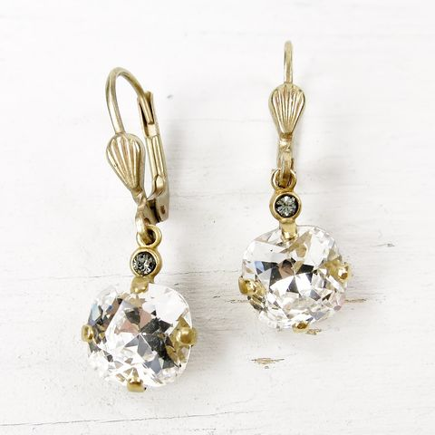 Catherine,Popesco,Small,Crystal,Earrings,in,Clear,Catherine Popesco Earrings, La Vie Parisienne Earrings, Catherine Popesco Jewelry, Catherine Popesco Paris