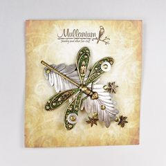 Mullanium - Dragonfly on Leaf Pin - product images 4 of 5