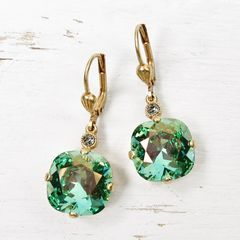 Catherine Popesco Large Crystal Earrings in Marine - product images 1 of 4
