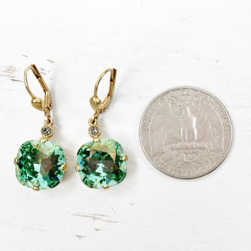 Catherine Popesco Large Crystal Earrings in Marine - product image