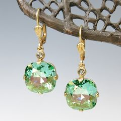 Catherine Popesco Large Crystal Earrings in Marine - product images 4 of 4