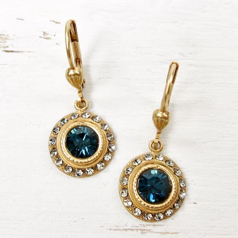 Catherine,Popesco,Round,Crystal,Earrings,in,Midnight,Catherine Popesco Earrings, La Vie Parisienne Earrings, Catherine Popesco Jewelry, Catherine Popesco Paris