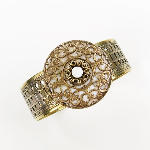 Jan,Michaels,Metallic,Lace,Cuff,-,Mother-of-Pearl,Jan Michaels Metallic Lace Cuff, Jan Michaels cuff, Jan Michaels bracelet, Jan Michaels