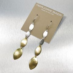 Marjorie Baer Linked Leaf Shoulder Duster Earrings - product images 3 of 5