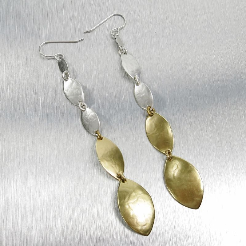 Marjorie Baer Linked Leaf Shoulder Duster Earrings - product image