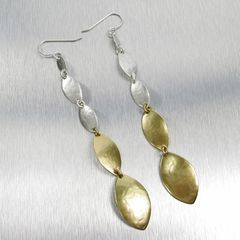 Marjorie Baer Linked Leaf Shoulder Duster Earrings - product images 1 of 5